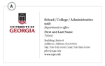 NEW UGA Business Cards